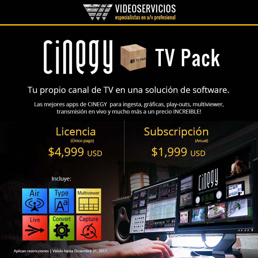 Cinegy TV Pack promo