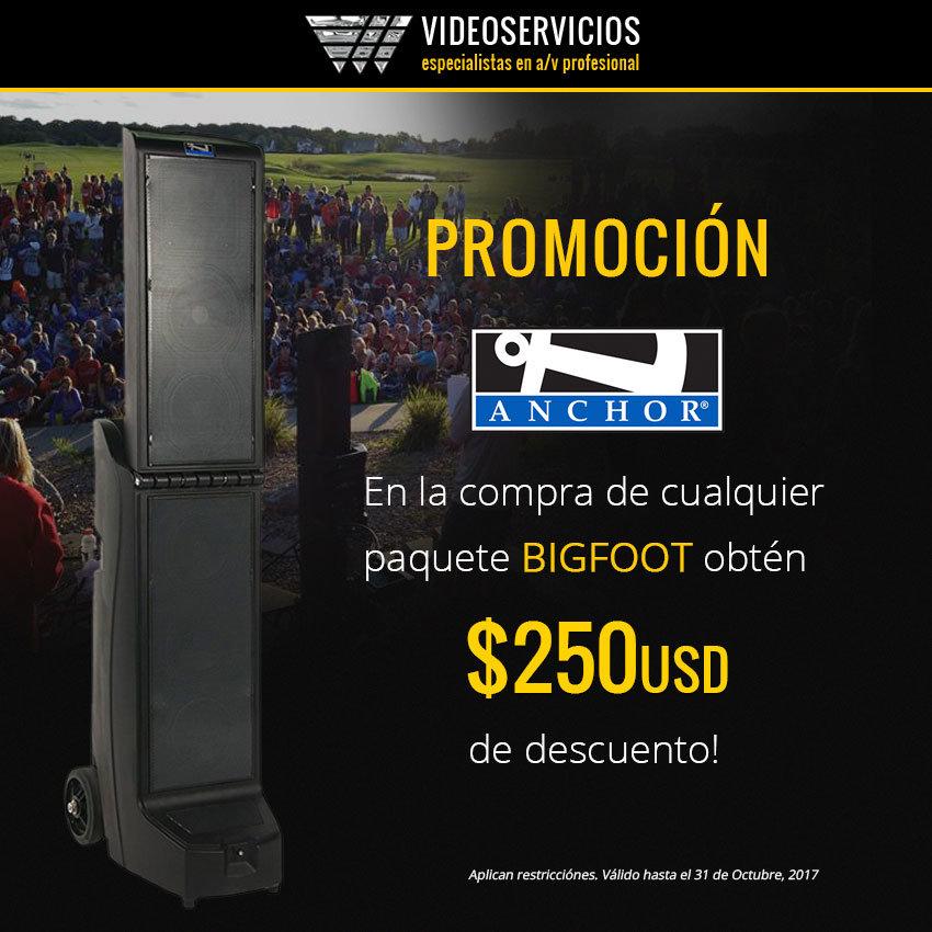Promo anchor Bigfoot - $250usd descuento