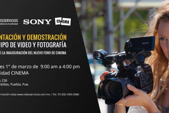 Presentación y Demostración de Equipo de Video y Fotografía -Cinema Puebla