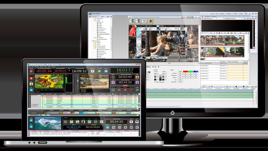 Cinegy solución de software puro de producción en la red