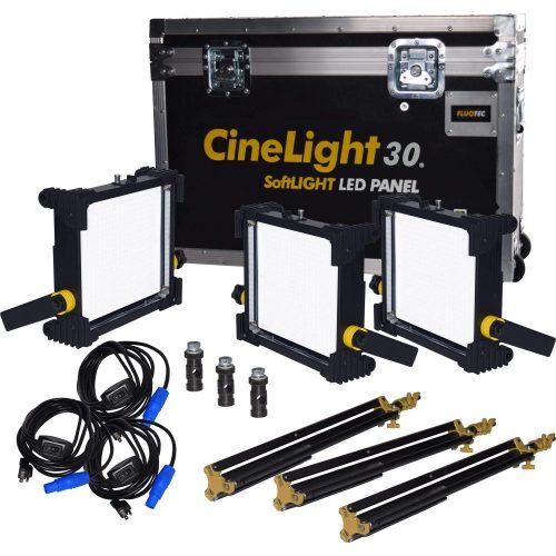Cinelight Production 30 Paquete3-1ft 65w V-mount
