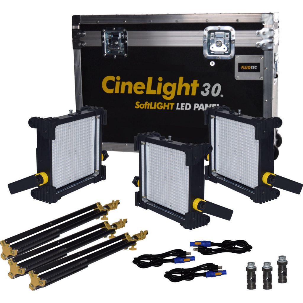Fluotec Cinelight Production 30 Pack 3V-MOUNT tiro largo