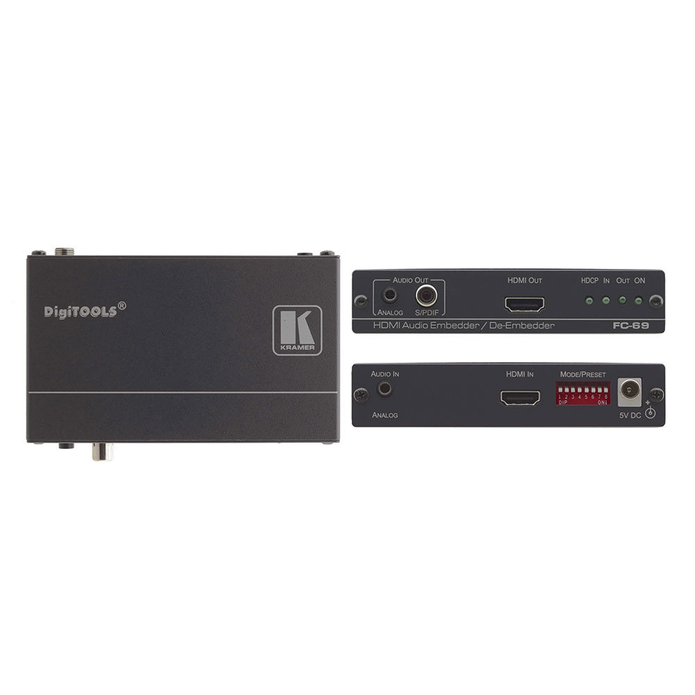 Kramer Embebedor-de-embebedor de Audio HDMI-FC-69