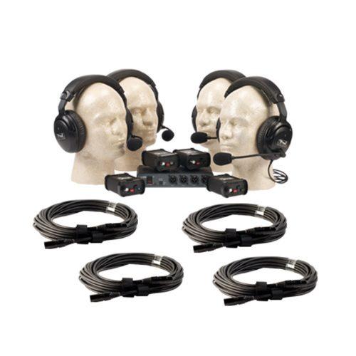 Anchor PortaCom Paquete para 4 Usuarios, con cables - COM-40FC