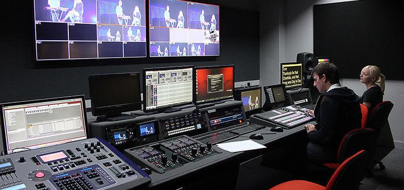 T.V. studio