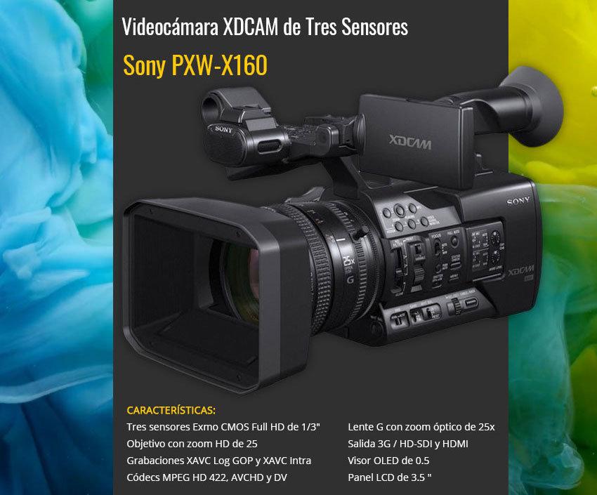 Videocamara xdcam sony-pxw-x160