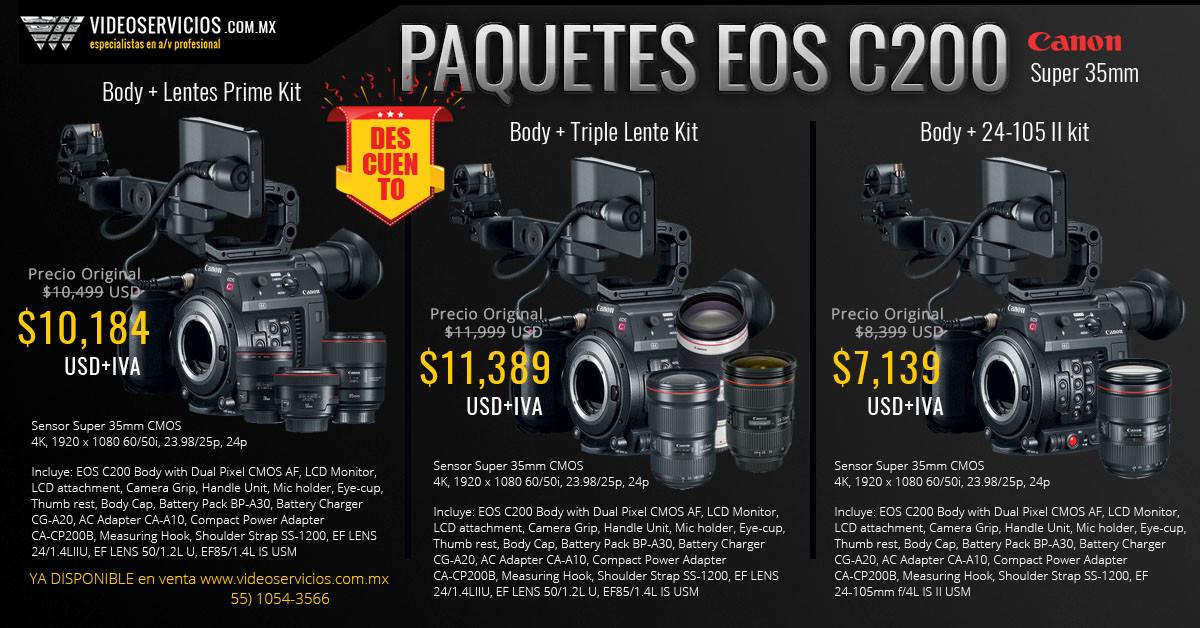 Canon EOS C200 Promo paquetes
