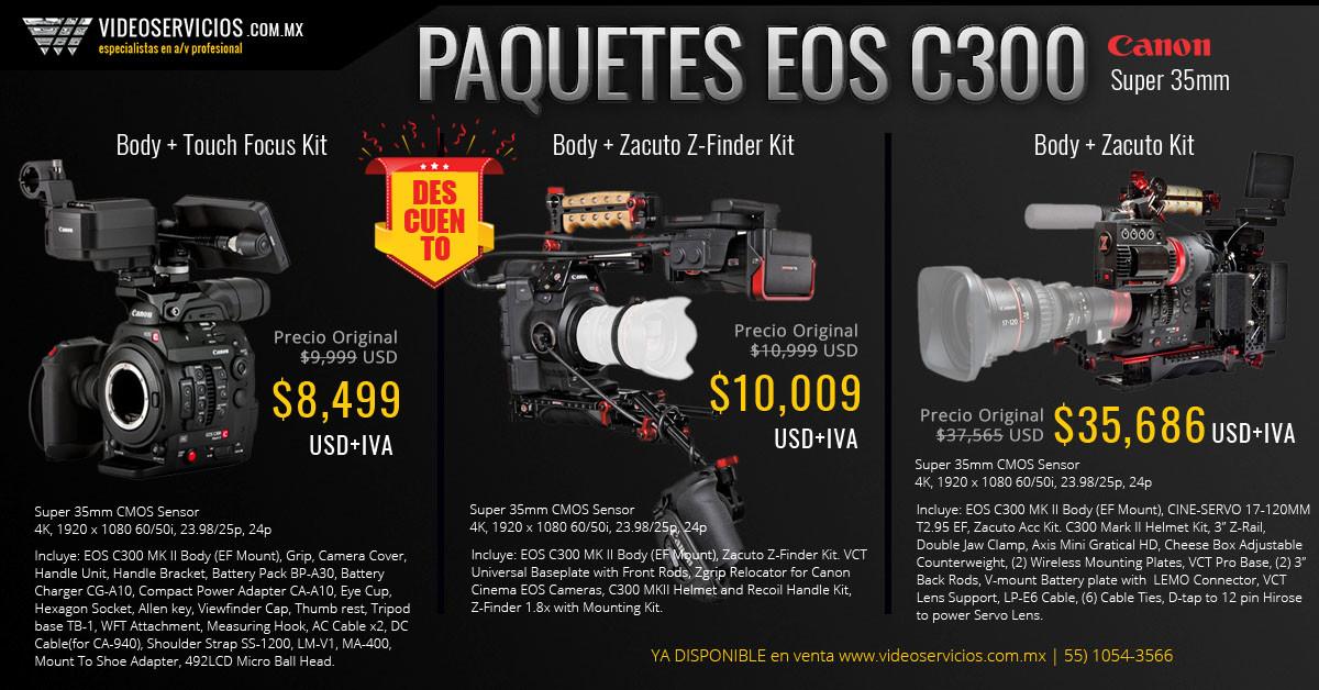 Canon EOS C300 Paquetes