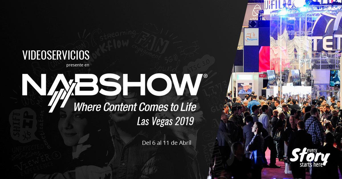 Página principal NAB Show Las Vegas 2019
