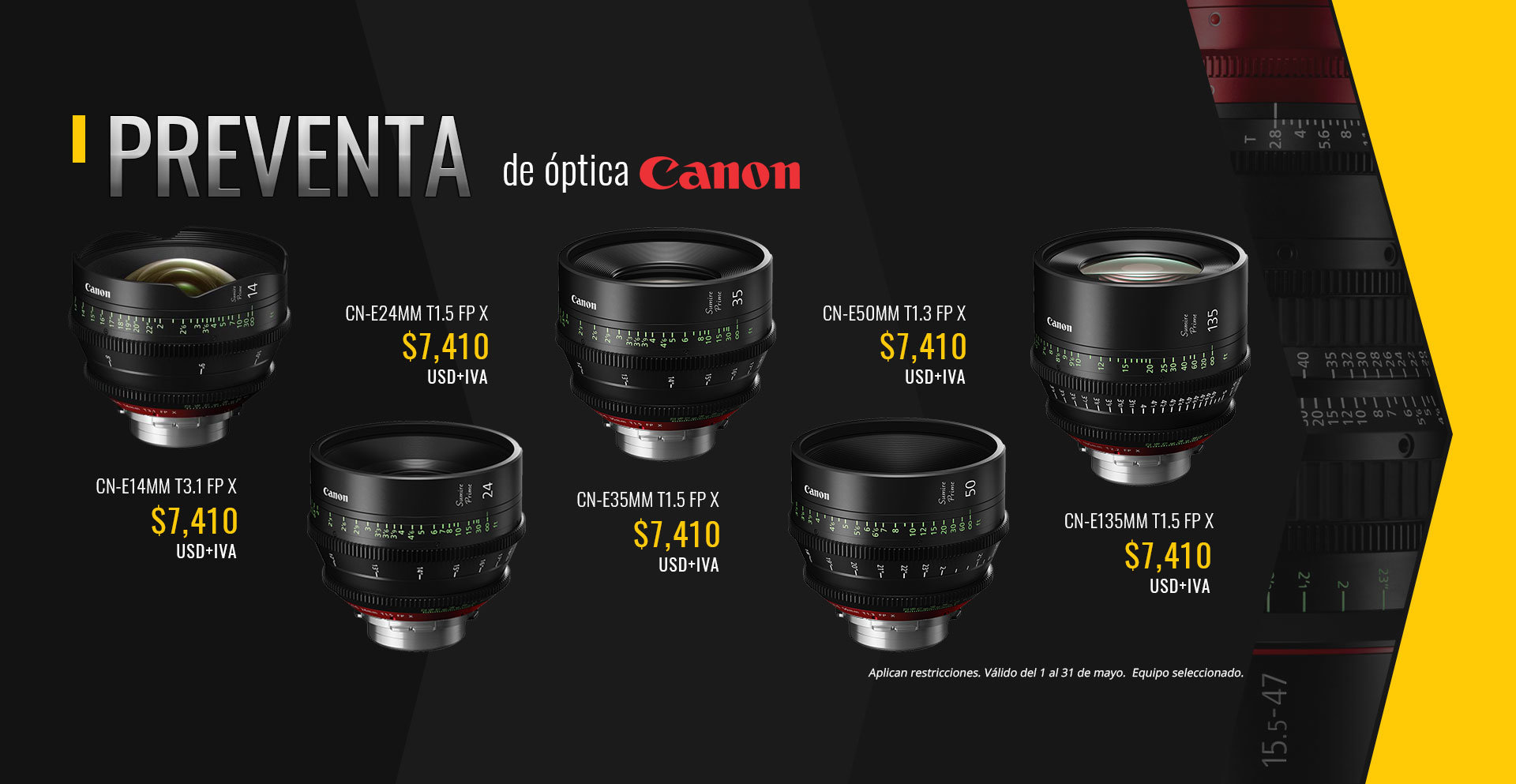 Preventa de lentes Canon