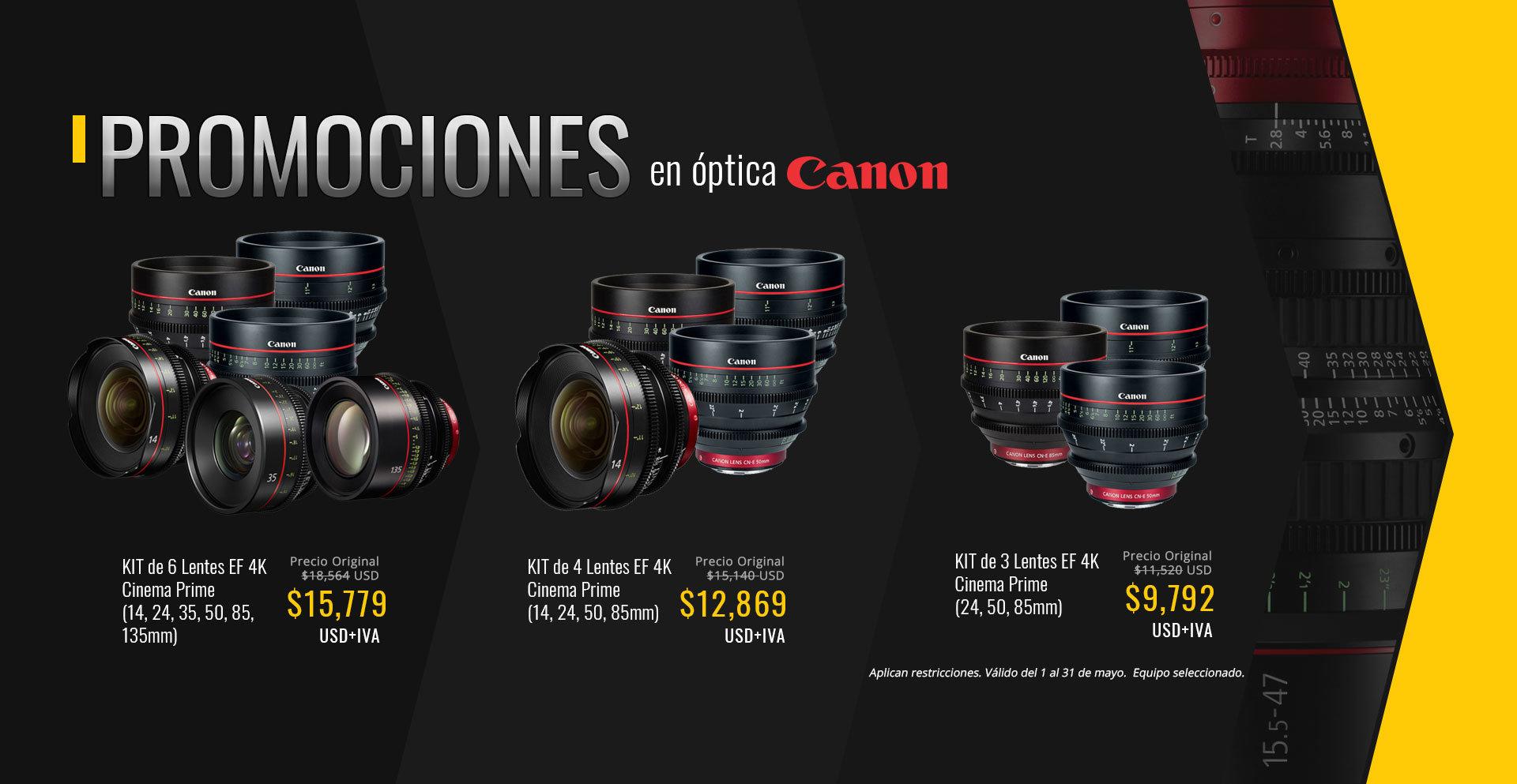 Promoción de lentes Canon