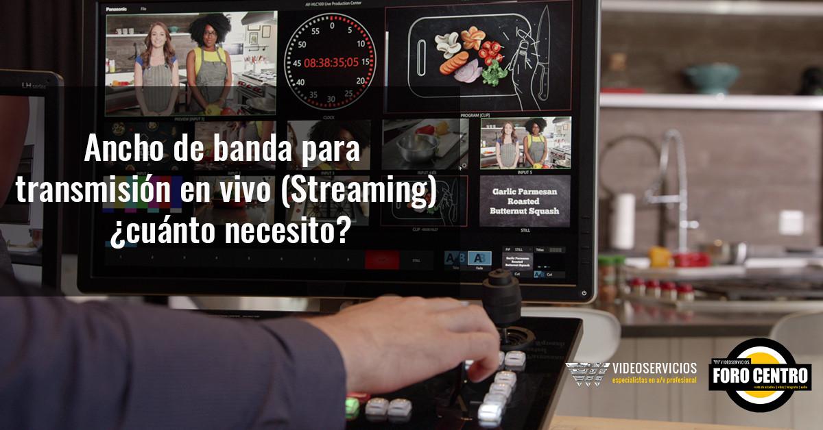 Ancho de banda para transmisión en vivo (Streaming): ¿cuánto necesito?